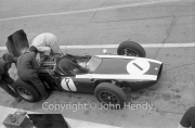 Formula 1 - #1 Cooper T53 - Climax (Jack Brabham) in the pits