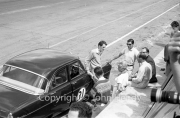 Touring cars - #31 Ford Zephyr (DB Haynes), with Nixon, Moss and co in the pits