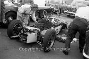 Formula Junior - #40 Elva 200 - BMC (George Naylor) with the engine exposed