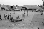 Formula 1 - #2 Cooper T53 - Climax (Bruce McLaren) and girls in the paddock