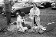 Pam and Rita having a picnic