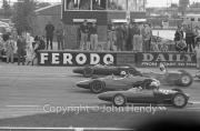 Formula Libre grid - #133 Lotus 1100cc (L.Gibbs), #120 Gilbey 1498cc (I.Raby)