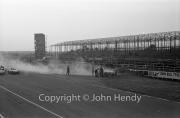 #30 Jaguar XK120 3442cc - J Kenyon - on fire