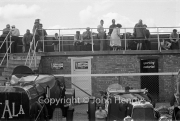 Spectators above the pits