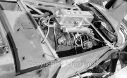 Engine of blown (supercharged) Lotus Mk VI MG, 747cc. #82 DR Piper. This was one of the early Mk VI (one of the first 8), originally acquired by Fred Hill, who called it the Empire Special. Drove it through 1953, then sold to Austin Nurse, who sold it on Boxing Day 1954 to David Piper.