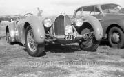 Bugatti, probably Type 57, 3257cc, in the paddock