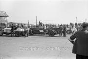 Start of Itala Trophy race. #60 1941 GP model Opel, 4490cc (SE Sears), #70 1926 Isotta-Fraschini, 7372cc (SR Waine). In background, the 12 litre Itala
