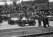 Grid for the Scratch Race - #47 1925 Bentley, #62 1928 Riley, #51 1923 Bugatti, #87 1930 Riley