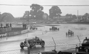 Cars racing in the wet