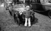 Simon in front of an Austin 7