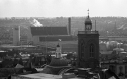 View of the Carlsberg brewery from the Grosvenor Centre car park