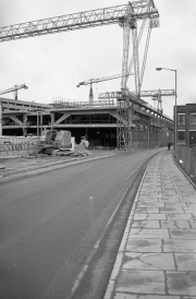 Bus station under construction