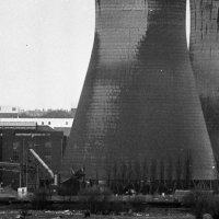 Cooling tower demolition