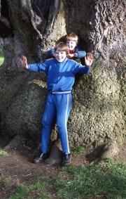 David and Simon in the Delapre tree