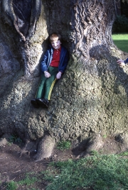 Simon in the Delapre tree