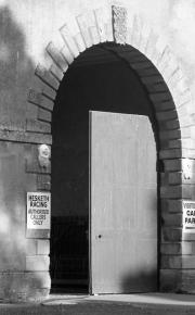 Entrance to the Hesketh F1 workshops