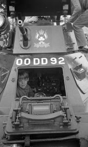 Simon in a tank