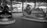 John and David on the dodgems