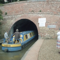 Barge entering Braunston Tunnel