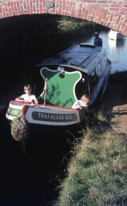 David and Simon on narrowboat