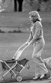 Woman with pushchair