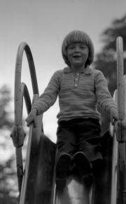 Simon on the slide