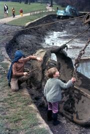 David and Simon with a digger