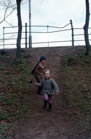 Running down the slope from Abington Park Crescent