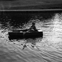 David rowing on the top lake