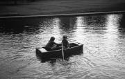 David and Simon rowing on the top lake