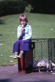 Simon with an ice cream