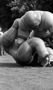 Giant inflatable wrestlers