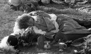Asleep, with tankards