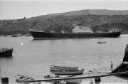 Ship in Fowey harbour