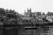 Yacht club and church
