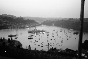 Fowey Harbour from Coastguard, at dusk