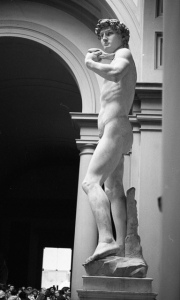 Michelangelos' David, side view