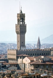 Palazzo Vecchio, view across roofs
