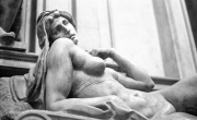 Reclining nude statue