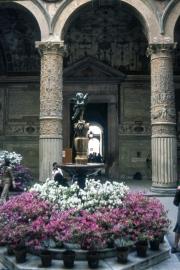 Courtyard of Palazzo Vecchio, Verrochio's Winged Putto With Fish