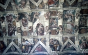 Ceiling in the Sistine Chapel
