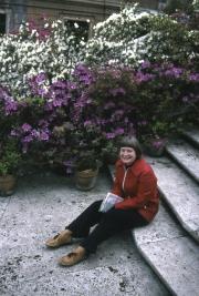 Greta on the Spanish Steps