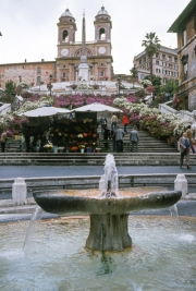 The Barcaccia and the Spanish Steps