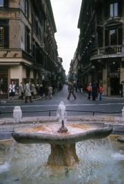 The Barcaccia and the Via Condotti