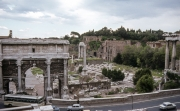 The Forum from the Capitol, Arch of Septimus Severus