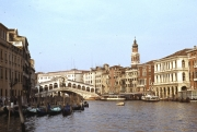 Rialto Bridge, view from down the Grand Canal