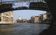Grand Canal - view through Accademia Bridge to Salute