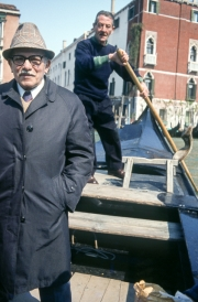 Man and Gondolier on a Traghetto