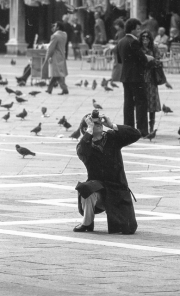Taking photos in Piazza San Marco