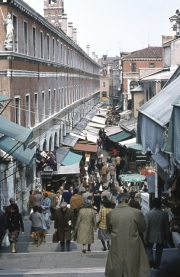 Rialto Bridge, looking down to the Markets